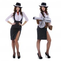 Disfraz de mujer mafiosa