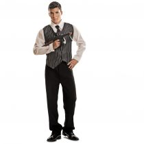 Disfraz de mafioso con chaleco