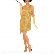 Disfraz de Charleston dorado