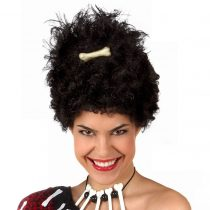 Peluca afro con hueso