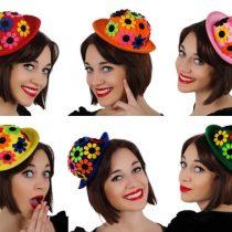 Mini sombrero payaso flores