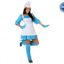 Disfraz de Pitufa Azul