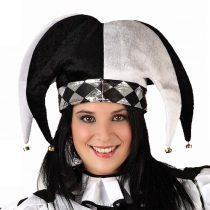 Gorro arlequín blanco/negro