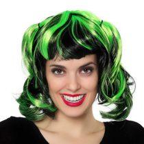 Peluca verde con mechas