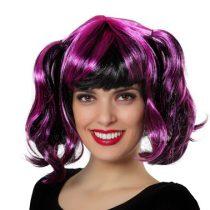 Peluca púrpura con mechas