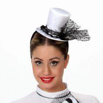 Mini sombrero blanco y negro