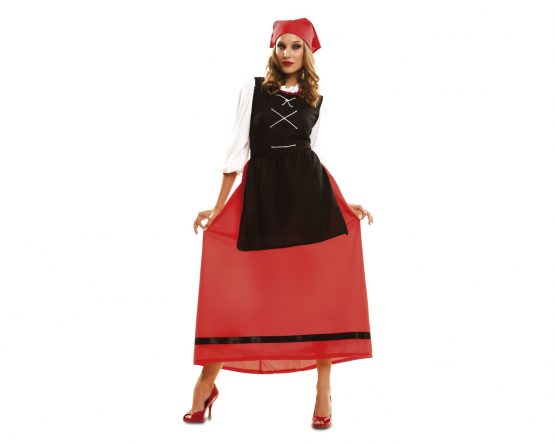Disfraz de pastora con falda roja