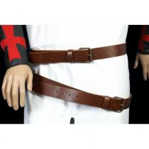 Cinturón doble cuero