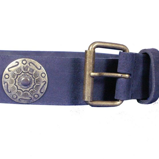 Cinturón medieval cuero serraje