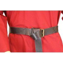 Cinturón medieval largo de cuero