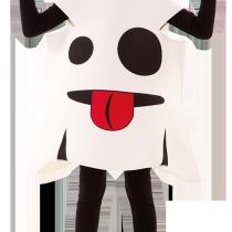 Disfraz Emoticono Fantasma para niño