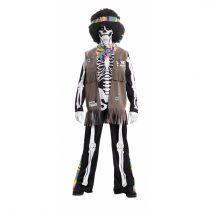Disfraz Esqueleto Hippie Unisex