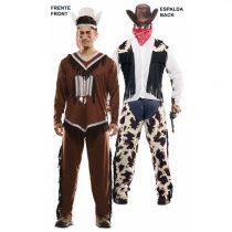 Disfraz DOUBLE FUN! Indio y vaquero